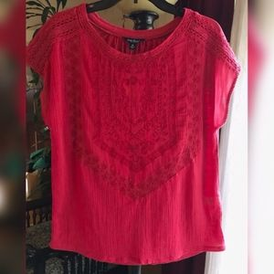 NWT Lucky Brand Embroidered Top
